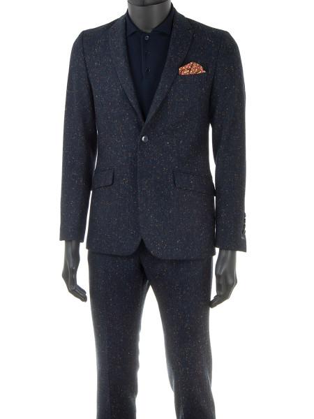 Navy Fleck Wool Spring Suit