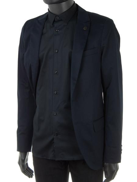 Black Summer Cotton Dress Shirt