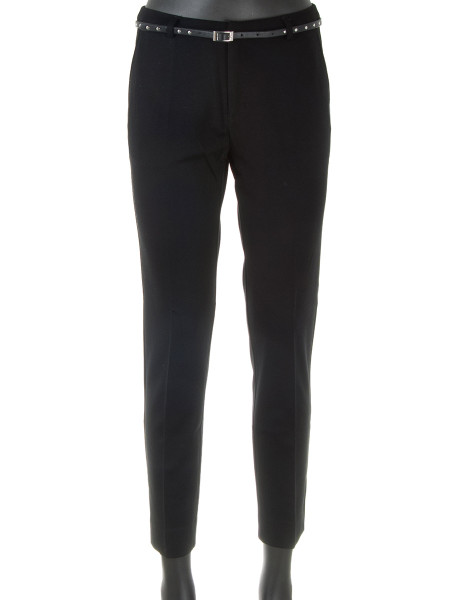Black Slim Fit Jersey Pants