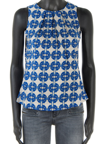 Royal Blue Patterned Short Top