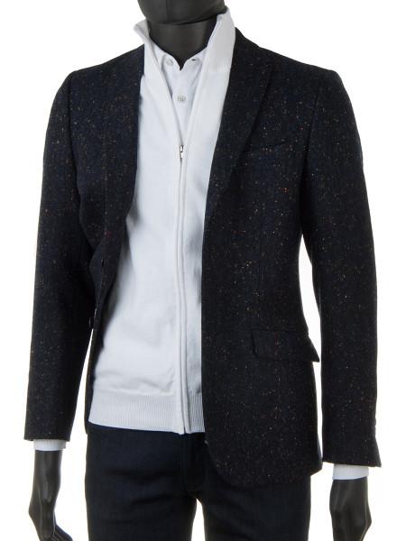 White High Neck Zip Through Cotton Cardigan