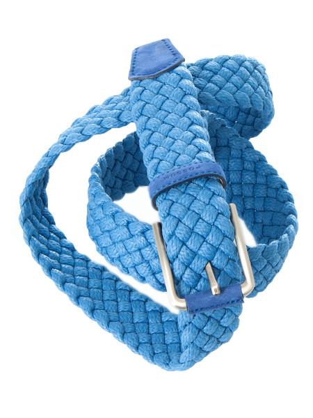Ocean Blue Braided Straw Belt