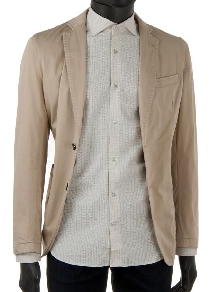 Stone Star Print Linen Blend Shirt