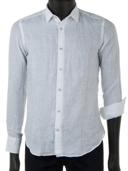 White Pure Linen Shirt