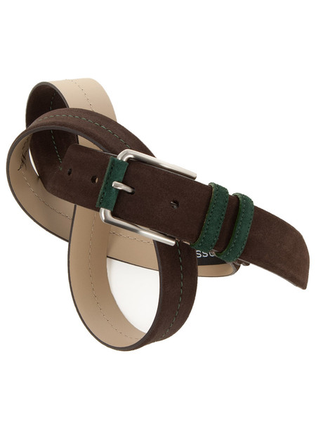Dark Brown Suede Two Tone Belt