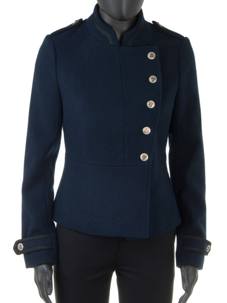 Short Navy Military Jacket