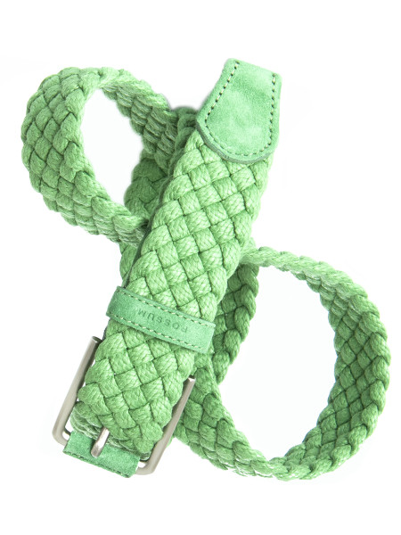 Green Braided Straw Belt