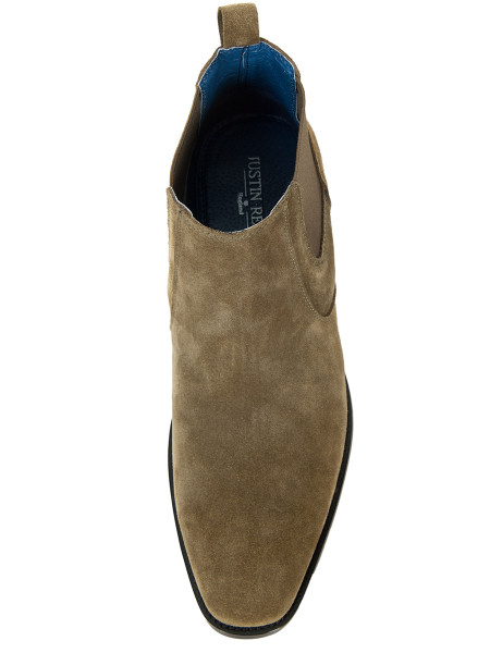 Olive Suede Chelsea Boots