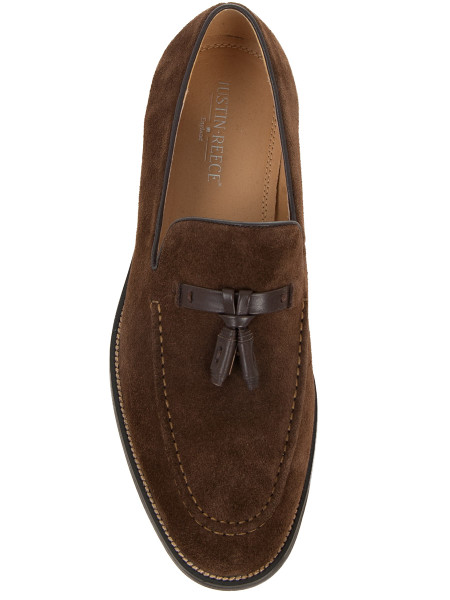 Chocolate Suede Loafer