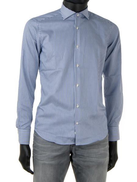 Classic Blue Striped Shirt