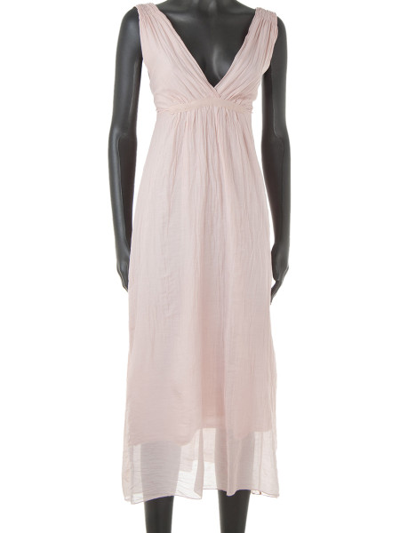 Light Pink Cotton & Silk Summer Dress
