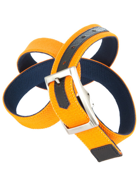 Orange & Navy Reversible Belt