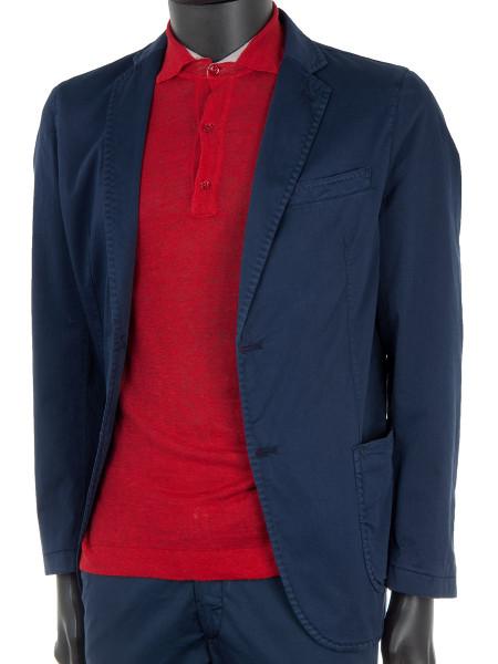 Red Linen Polo