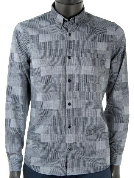 Grey Stripes & Checks Shirt