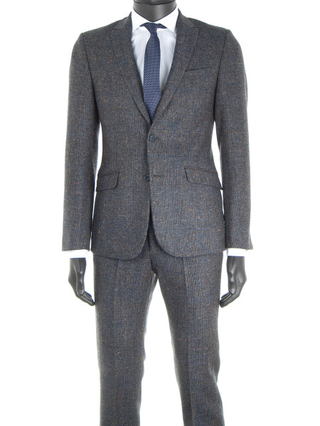 Prince of Wales Check Pure Wool  2-Piece Suit