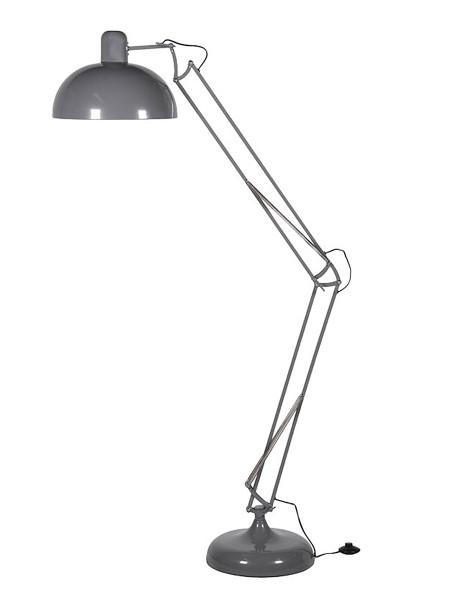 Graphite Grey Floor Angle Lamp
