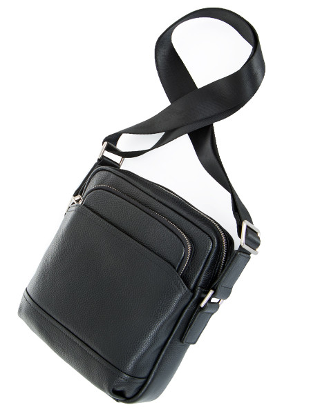 Small Black Leather Messenger Bag