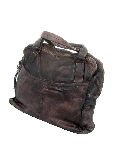 Medium Brown Shopper Leather Bag