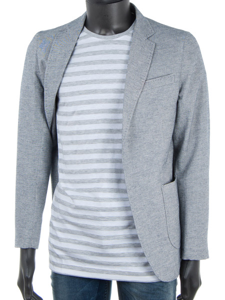 Long Light French Grey Striped T-Shirt