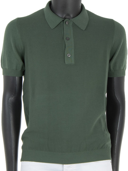 Textured Khaki Polo