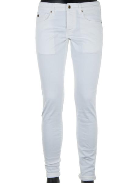 White Garment Dyed Denim Jeans