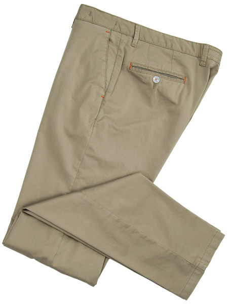 Olive Stretch Cotton Chinos