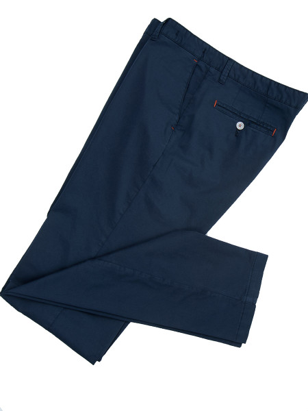 Navy Stretch Cotton Chinos