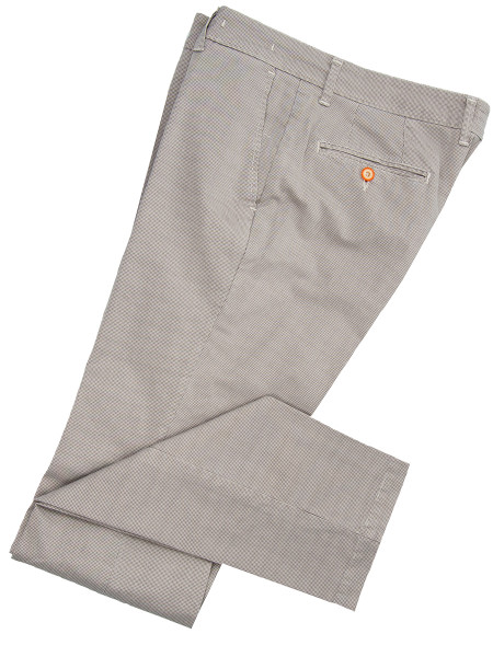 Stone Textured Cotton Chinos