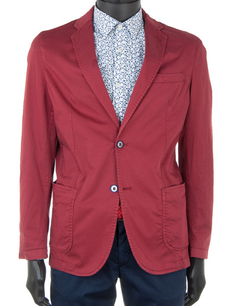 Bordeaux Cotton Stretch Blazer