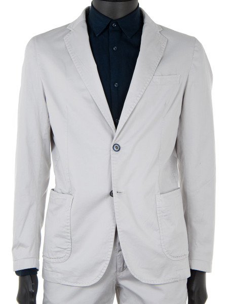 Stone Cotton Stretch Blazer