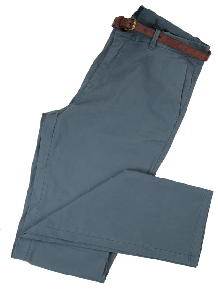 Graphite Grey Slim Fit Stretch Chinos