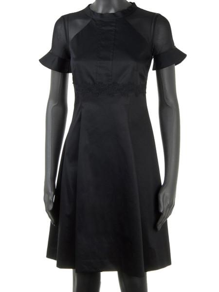 Black Cotton Stretch Cocktail & Summer Dress