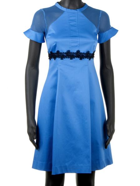 Bright Blue Cotton Stretch Cocktail & Summer Dress