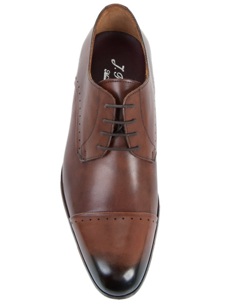 Cognac Darkened Toe Cap Shoe