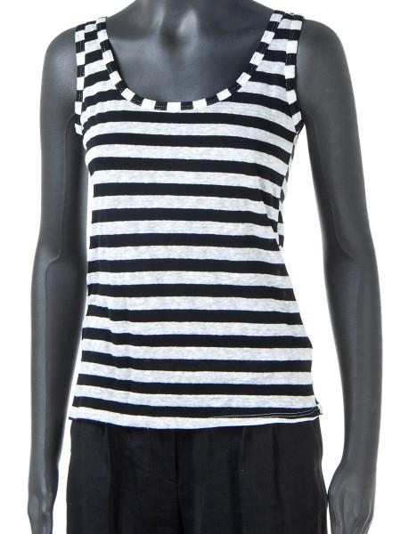 Black & White Striped Vest Top