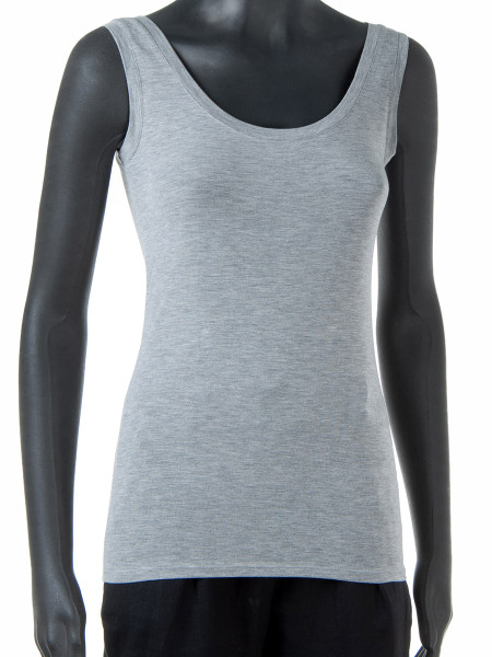 French Grey Summer Vest Top