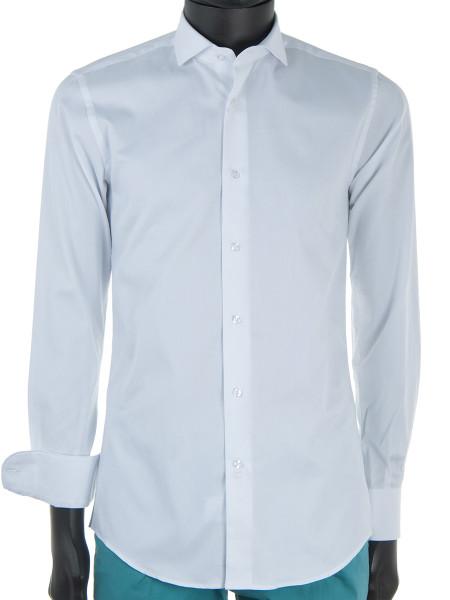 White Poplin Cotton Dress Shirt