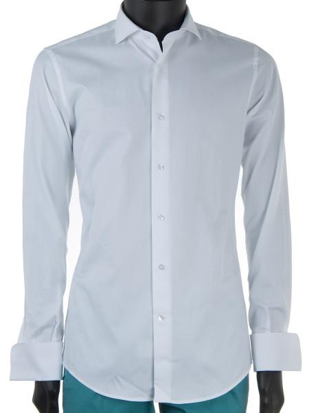 White Poplin Cotton Double Cuff Dress Shirt