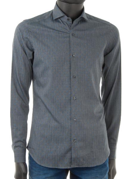 Grey Blue Dot Shirt