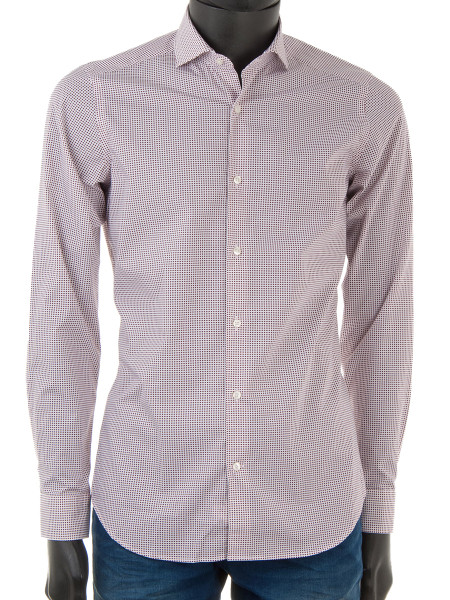 Crimson Dot Cotton Shirt