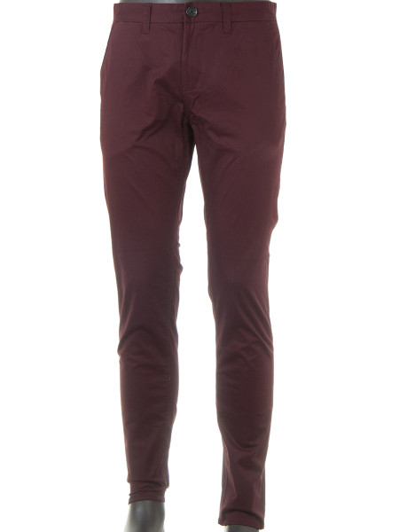 Dark Bordeaux Chinos