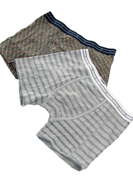 Grey 2–Pack All-Over Printed Boxer Shorts