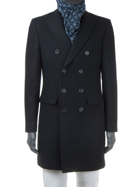 Black Wool Top Coat