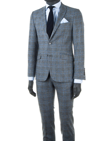 Light Grey Prince of Wales Check 2-Piece Suit