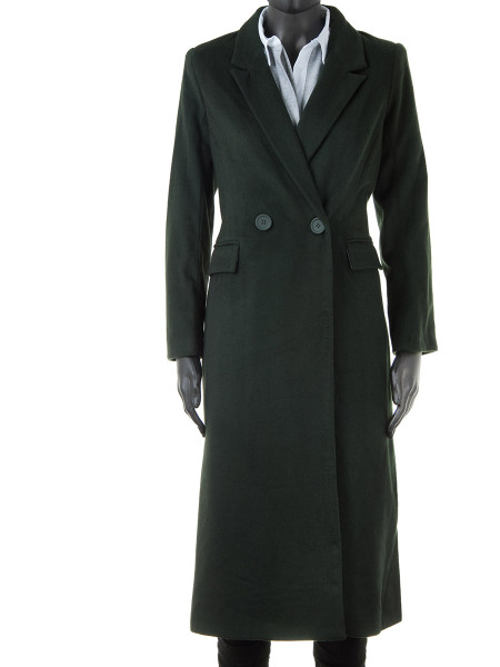 Long Forest Green Fitted Coat