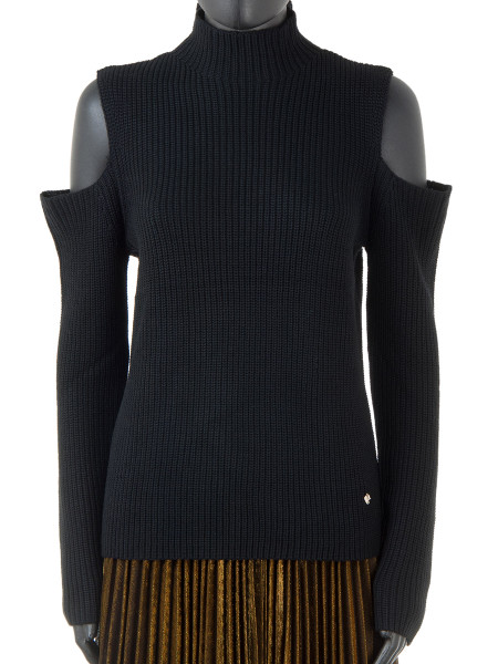 Black Peak Shoulder Sweater