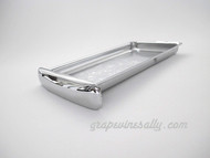 """NEW CHROME Center Griddle Grease Drip Tray. This is the thin SMOOTH pull style. Fits the vintage 1940's-1950's Wedgewood Gas Stoves. The metal integrity is excellent. MEASUREMENTS (does not incl. the handle pull): 8-3/4"""" x 4-7/8"""""""