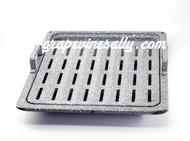 "2 Piece USED Porcelain Enameled Broiler Oven Pan Set.   MEASUREMENTS:  Lower Pan Depth 16-3/8""  /  Width 13-1/2""  -  Inset Top Pan Width 11-7/8""  /  Depth 12-3/4"""