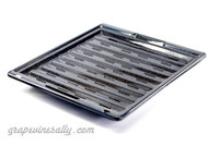 "2 Piece USED Porcelain Enameled Broiler Oven Pan Set.   MEASUREMENTS: Lower Pan Depth 14-7/8""  /  Width 13-1/4""  -  Inset Top Pan Width 12-1/2""  /  Depth 13.0"""
