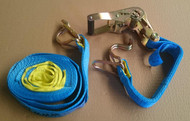 Ratchet Tie Down Straps - 35mm x 6.0m - 1500kg
